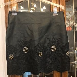Jealous Tomato Black pleather miniskirt- large